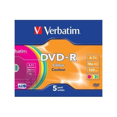 Verbatim DVD-R toorik AZO 4.7Gb 16X slim 43557 5tk/pk