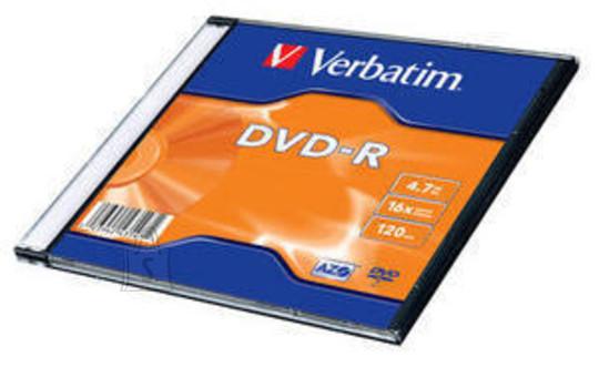Verbatim DVD-R toorik AZO 4.7Gb 16X slim 43547
