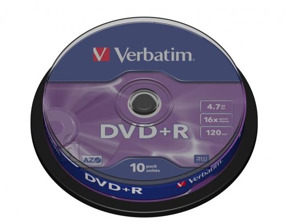 Verbatim DVD+R toorik AZO 4.7Gb 16X 100tk tornis