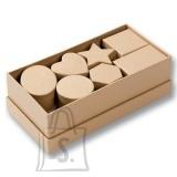 Folia karp kartongist süda 8x7.5x4 cm natural 1tk