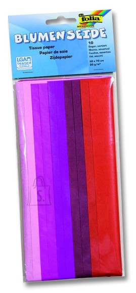 Folia siidipaber 50x70 Color 10 tk punane mix