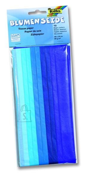 Folia siidipaber 50x70 Color 10 tk sinine mix