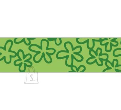 Folia Washi-Tape 26044 15mm x 10m rohelised lilled