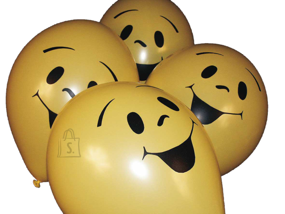 Haza Õhupallid  Haza Smile 6tk/pk kollased