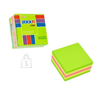 Stick'N märkmekuup 51x51 mm 250 lehte minikuup rohelised toonid