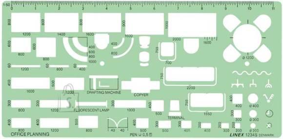 Linex šabloon Kontori planeerimine 1234S