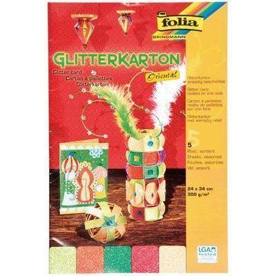 Folia käsitööpaber glitterkartong ORIENTAL 300g 24x34 cm 5 lehte