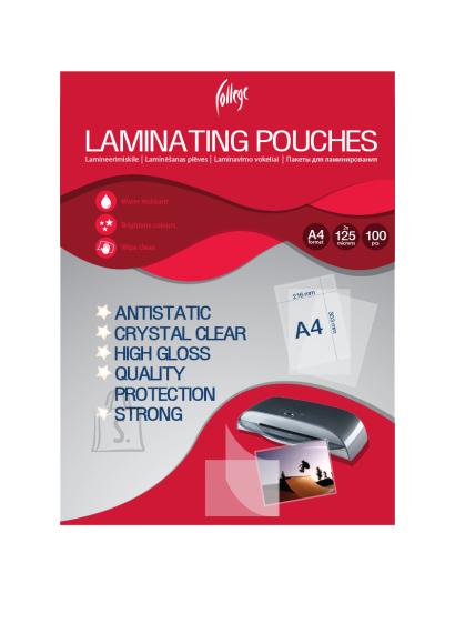 College lamineerimiskile Antistatic A4 125mic/100L läbipaistev