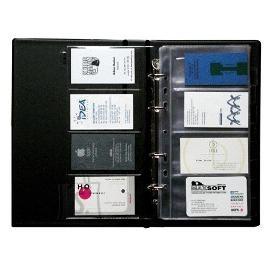 Panta Plast visiitkaardimapp 200-le kaardile must
