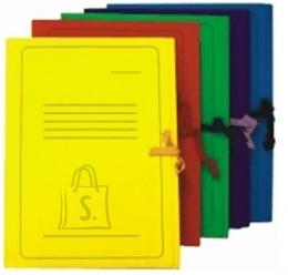 Smiltainis paberimapp A4 paelaga seotav kollane