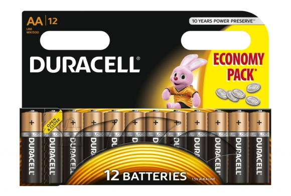 Duracell Patarei Duracell Basic AA, MN1500 12tk/pk alkaline (P)