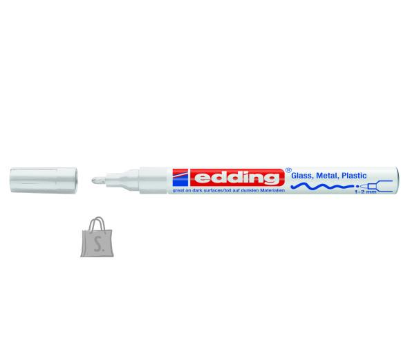edding Värvimarker Edding 751, 1-2mm, permanente läikiv, valge