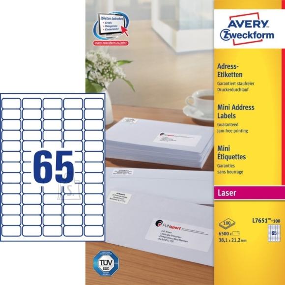 Avery Zweckform Etiketid Zweckform L7651-100 38,1x21,2mm A4/100L ümarad nurgad