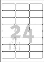 Avery Zweckform Etiketid Zweckform L7159-100 63,5x33,9mm A4/100L ümarad nurgad (P)