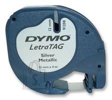 Dymo Kleepkirjalint Dymo LetraTag 12mm x 4m hõbe metallik 91228