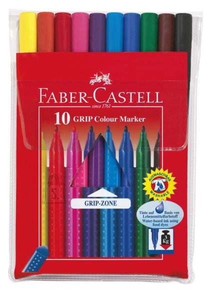 Faber-Castell Viltpliiatsid Faber-Castell Grip kolmekandilised 10-värvi