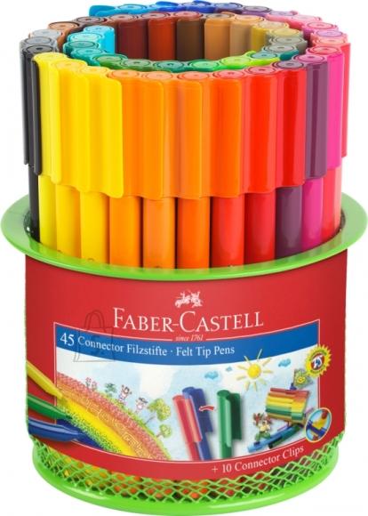 Faber-Castell Viltpliiatsid Faber-Castell 45-värvi metallist topsis (P)
