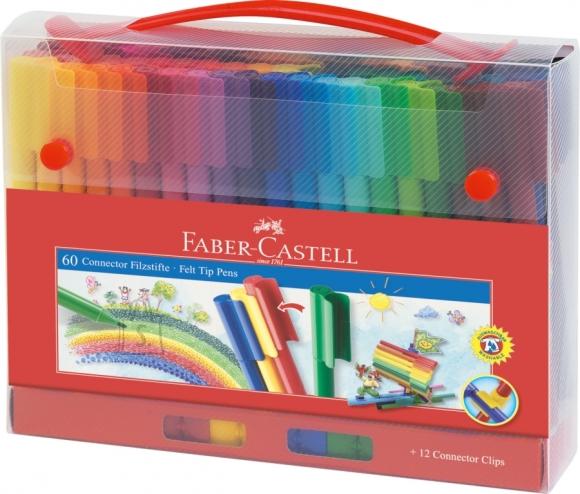 Faber-Castell Viltpliiatsid Faber-Castell 60-värvi kohvris