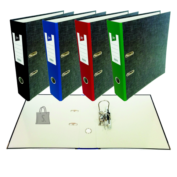 College Registraator KPF College A4 40mm Paber/Paber marmor, punane selg, metall alaserv