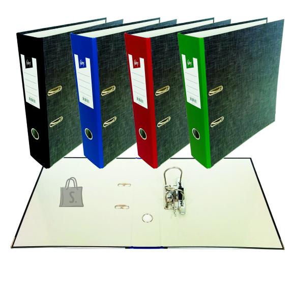 College Registraator KPF College A4 40mm Paber/Paber marmor, roheline selg, metall alaserv