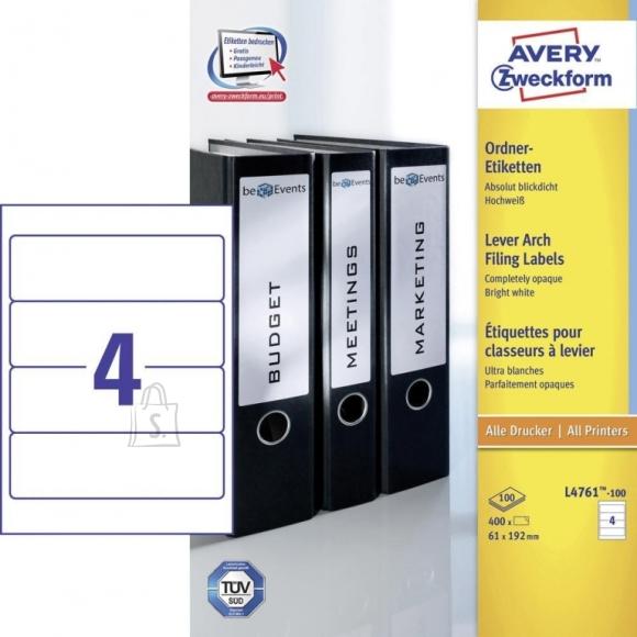 Avery Zweckform Etiketid Zweckform 4761-100 192x61mm A4/100L (P)