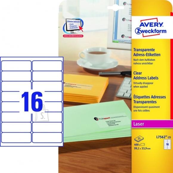 Avery Zweckform **Etiketid Zweckform L7562-25 99,1x33,9mm A4/25L läbipaistev polüester