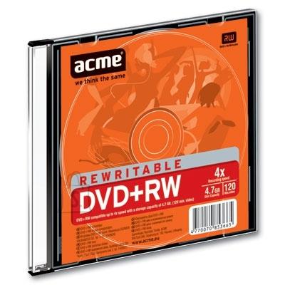 ACME DVD+RW Acme 4,7GB 1-4x slim