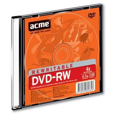 ACME DVD-RW Acme 4,7GB 4x slim