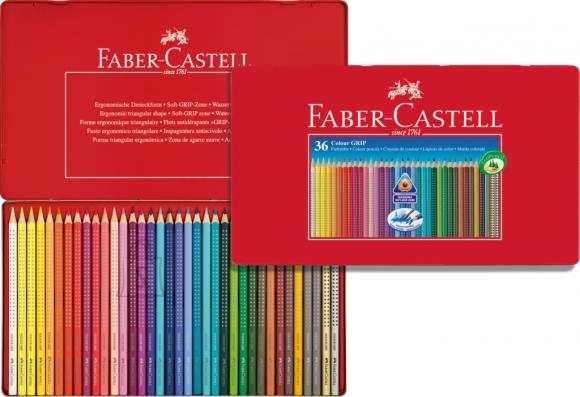 Faber-Castell Värvipliiatsid Faber-Castell Grip 2001 36-värvi metallkarbis (P)
