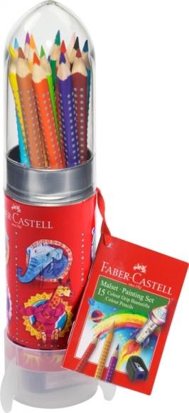 Faber-Castell Värvipliiatsid Faber-Castell Grip komplekt 15-värvi rakett (P)