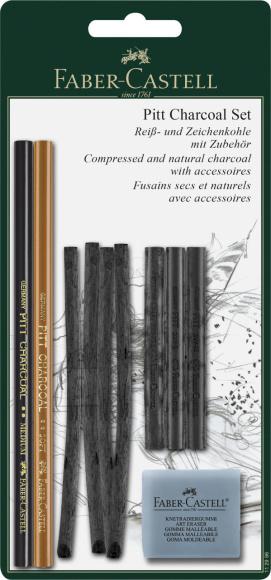 Faber-Castell Söekomplekt Faber-Castell Pitt Charcoal Set Blister