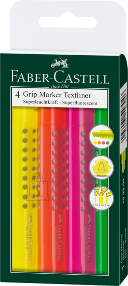 Faber-Castell Tekstimarkerite komplekt Faber-Castell Grip 4-värvi