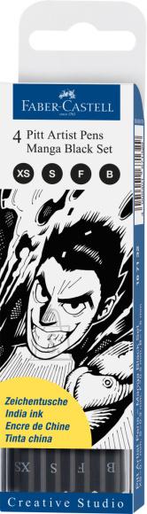 Faber-Castell Pintsel-pliiats Faber-Castell PITT värv 199 4-suurust manga komplekt (P)