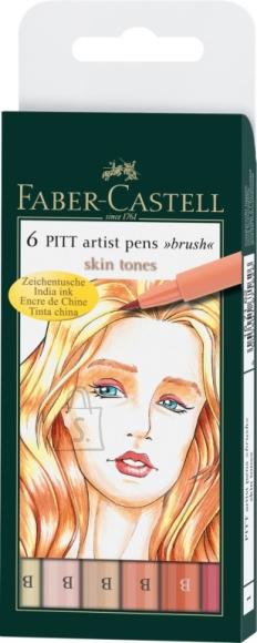 Faber-Castell Pintsel-pliiats Faber-Castell PITT artist pen B nahatooni 6tk/pk
