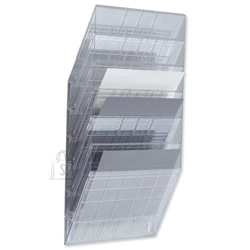 Durable Infoalus Durable Flexiboxx 6-osa seinale, horisontaalne, läbipaistev
