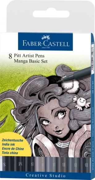 Faber-Castell Pintsel-pliiats Faber-Castell Pitt Artist Pen Manga 8-värvi