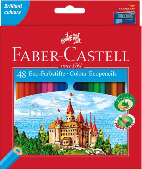Faber-Castell Värvipliiatsid Faber-Castell Castle/Loss 48-värvi + teritaja