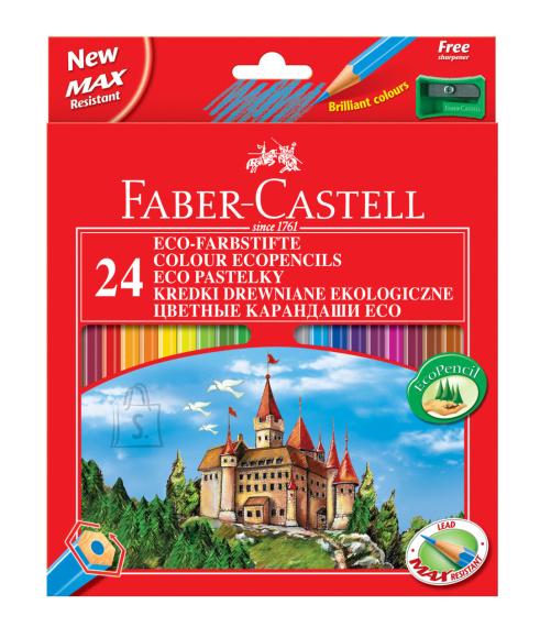Faber-Castell Värvipliiatsid Faber-Castell Castle/Loss 24-värvi + teritaja