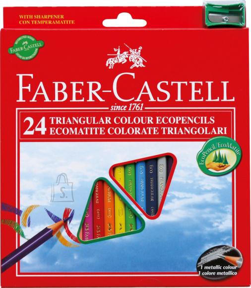 Faber-Castell Värvipliiatsid Faber-Castell Eco 24-värvi kolmetahulised + teritaja (P)