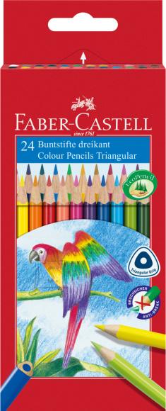 Faber-Castell Värvipliiatsid Faber-Castell Papagoi 24-värvi kolmetahulised