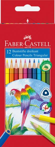 Faber-Castell Värvipliiatsid Faber-Castell Papagoi 12-värvi kolmetahulised (P)