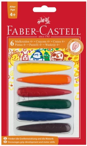 Faber-Castell Rasvakriidid Faber-Castell 6-värvi näpp (P)