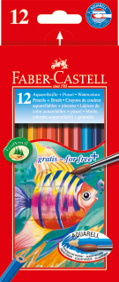 Faber-Castell Akvarellpliiatsid Faber-Castell Fish/Kala 12 värvi+pintsel