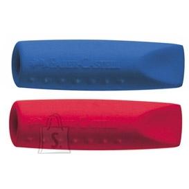 Faber-Castell Kustukumm Faber-Castell Grip 2001 harilikule pliiatsile, 2tk/pk, punane/sinine