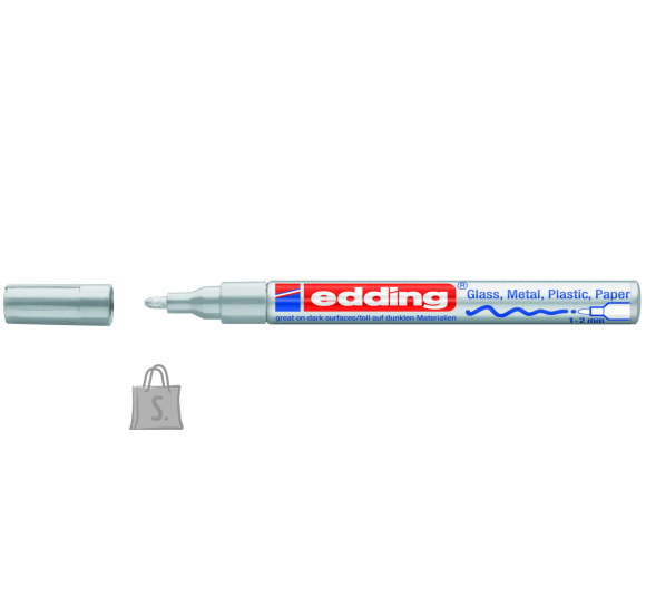edding Värvimarker Edding 751, 1-2mm, permanente läikiv, hõbedane