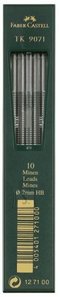 Faber-Castell Mehaanilise pliiatsi söed Faber-Castell TK 9071 Ø 2,0mm 10tk (P)