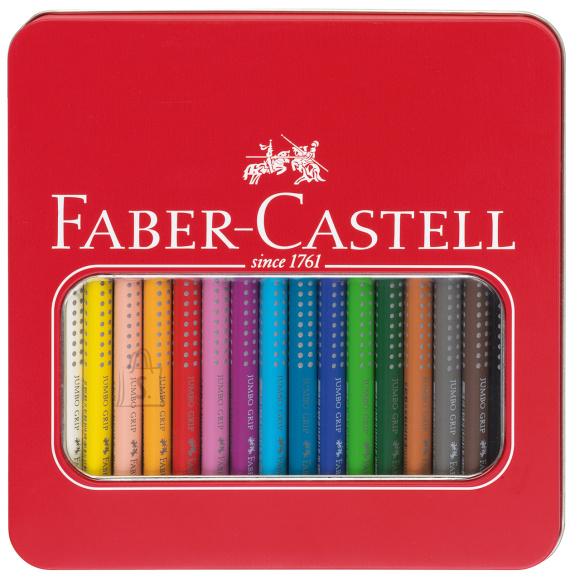 Faber-Castell Värvipliiats Faber-Castell Jumbo Grip 16-värvi metallkarbis
