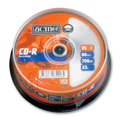 ACME CD-R Acme 700MB 52x 25tk tornis