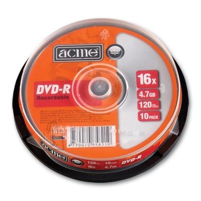 ACME DVD-R Acme 4,7GB 16x 10tk tornis