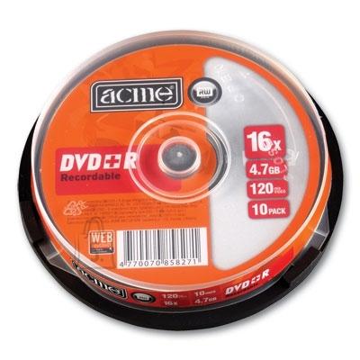 ACME DVD+R Acme 4,7GB 16x 10tk tornis